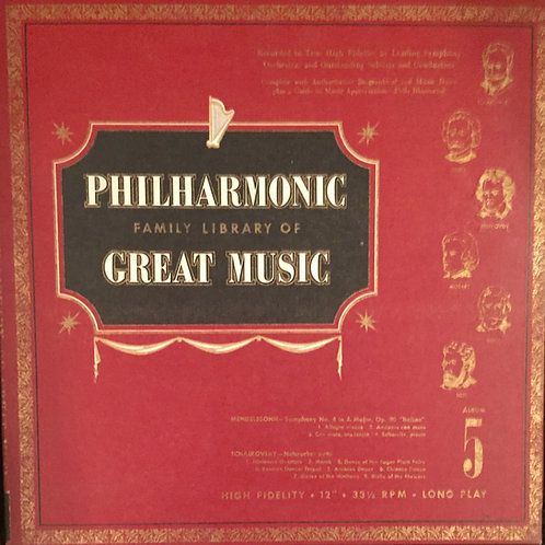 Philharmonic Family Library Of Great Music Album 5