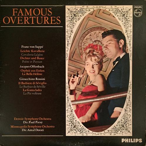 Detroit SO, Paul Paray, Minneapolis SO,  Antal Dorati – Famous Overtures