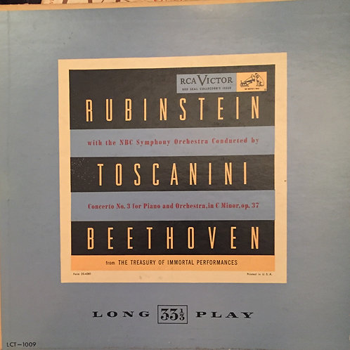 Beethoven, Rubinstein, Toscanini, NBC SO ‎– Concerto No. 3 - OP.37