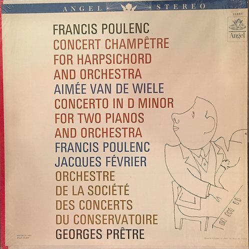 Poulenc, Van De Wiele, Février, La Société Des Concerts Du Conservatoire