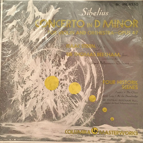 Sibelius/ Stern, Sir Thomas Beecham,The Royal Philharmonic. Concerto in D minor