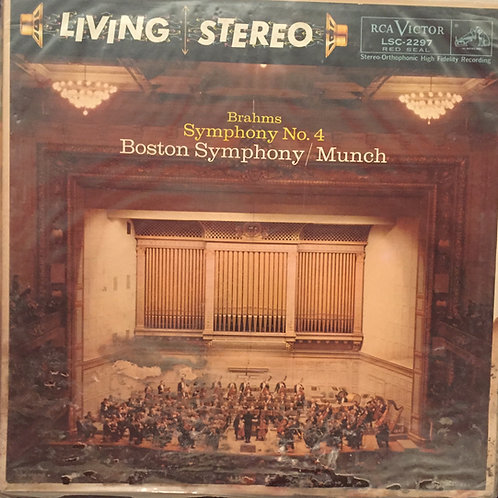 Charles Munch, Boston Symphony Orchestra ‎– Brahms: Symphony No. 4 In E Minor