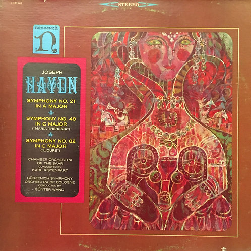 Haydn - Chamber Orchestra Of The Saar Conducted By Karl Ristenpart