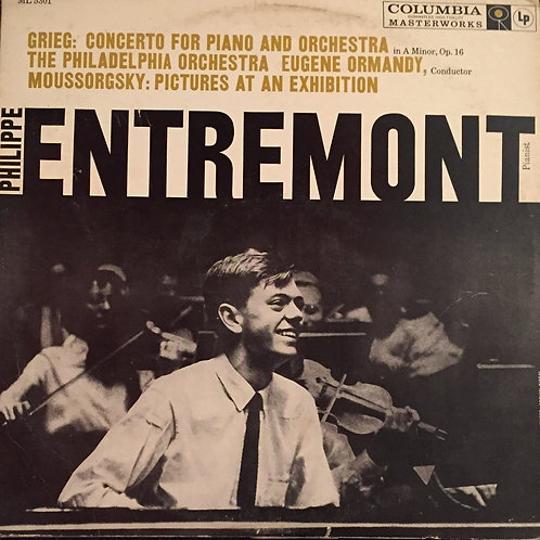 Grieg - Philippe Entremont – Concerto For Piano And Orchestra In A Minor, Op. 1