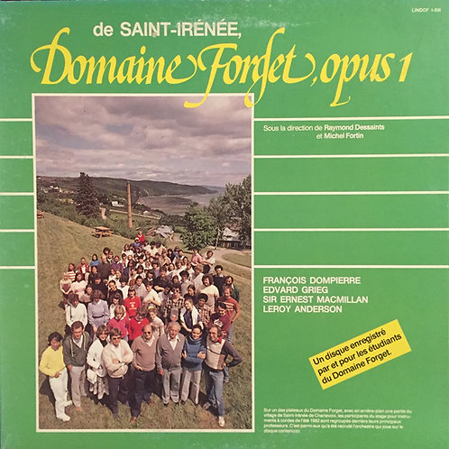 Dompierre, Grieg, MacMillan, Anderson – Domaine Forget, Opus 1