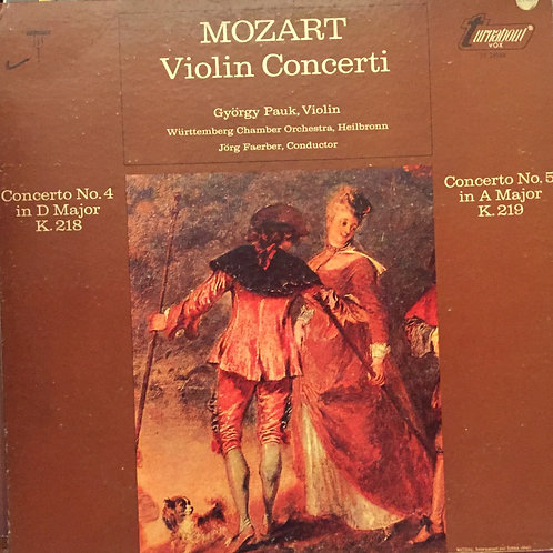 Mozart, György Pauk – Violin Concerti