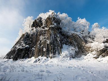 Zlatý vrch v zimě