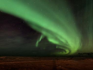 Polární záře u Reyjkavíku
