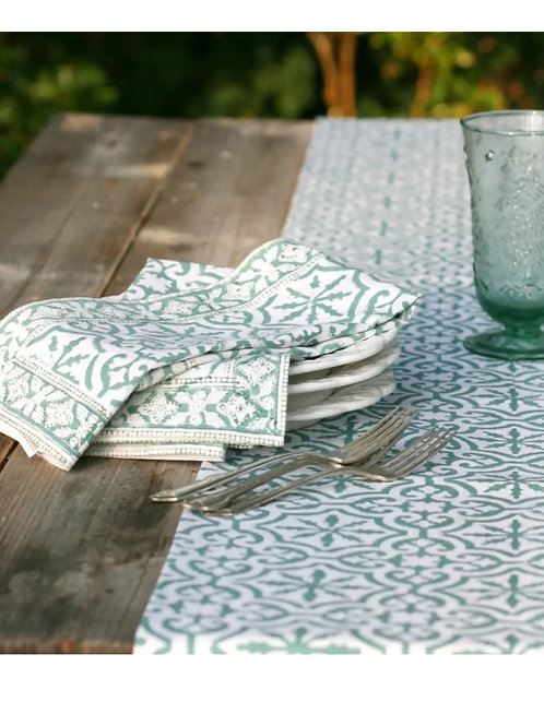 Pacific & Rose Table Runner Easton Teal