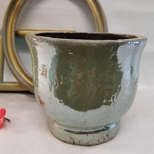 Iridescent Green Pot