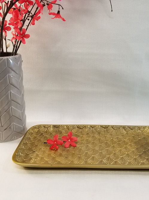 Rectangle Gold Tray - catch all