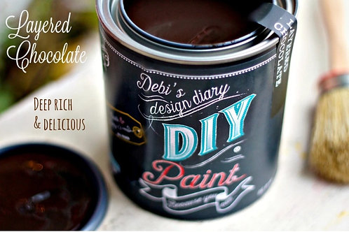 Layered Chocolate DIY Paint 8 oz