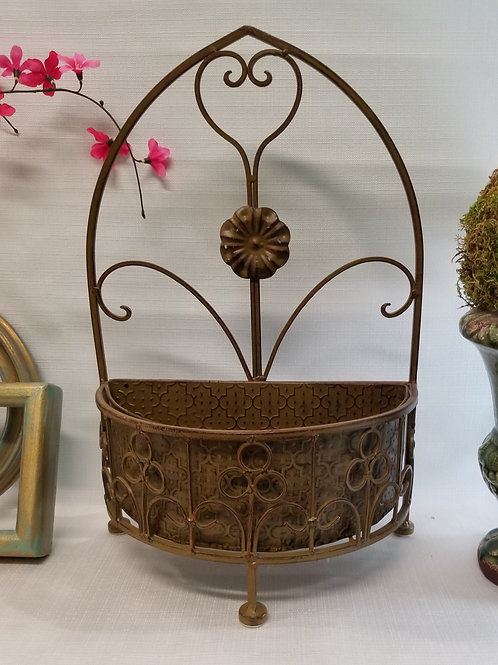 Metal Plant Holder table top or hang