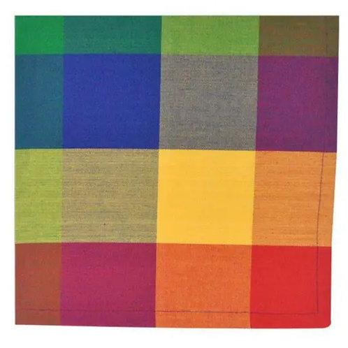 Design Imports Palette Check Indian Summer Napkin set of 4