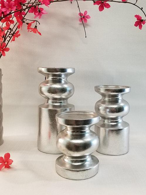 Medium Candle Holder Silver