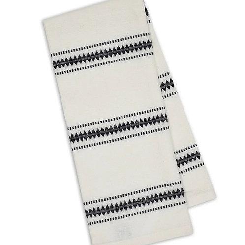 Zig Dobby Stripe Dishtowel by Design Imports
