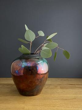Medium Red Copper Raku Vase.heic