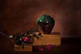 Dark Green Vase with Flowers.jpg