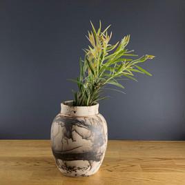 Medium Horsehair Vase with Banksia.jpg