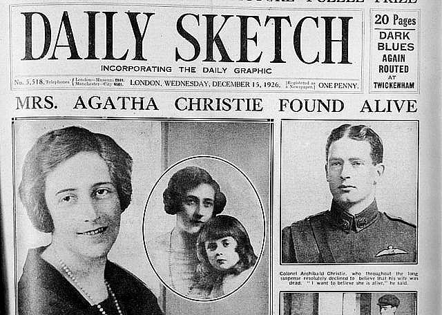 """Portada con el """"caso Agatha Christie"""""""