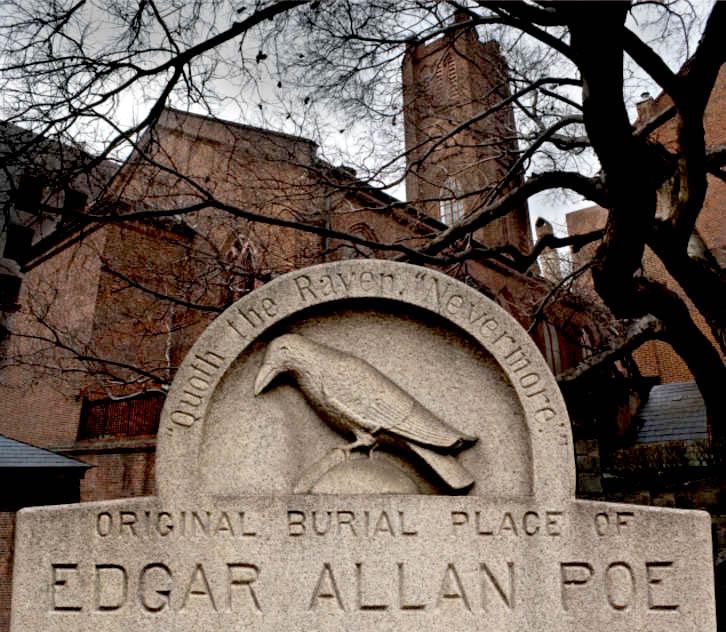 Lápida de la tumba original de Edgar Allan Poe