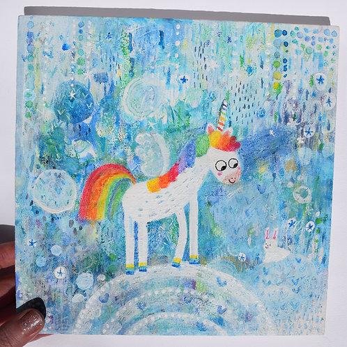 Rainbow Unicorn and Rabbit