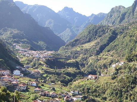 mountain range Madeira island