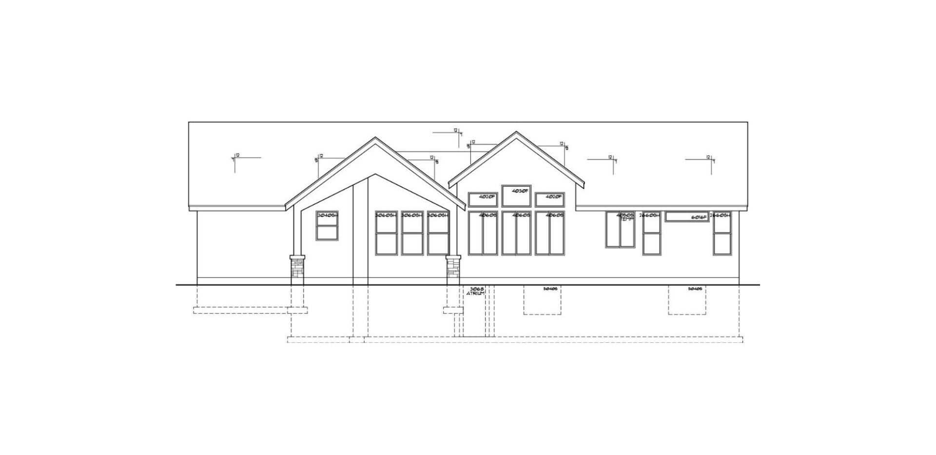 Brokings Rear Elevation