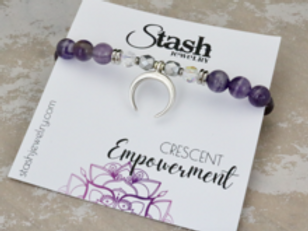 Crescent Bracelet - Empowerment - Amethyst