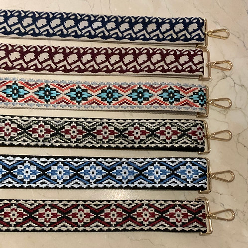 """2"""" Embroidered Bag Straps (Gold)"""