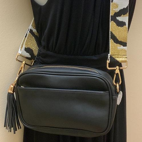 Tassel Accent Messenger Bag & Camo Strap Set