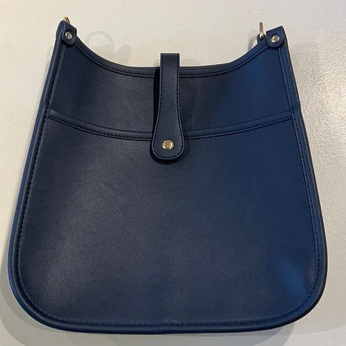 Navy Reg. Size Snap Closure Messenger - Bag Only