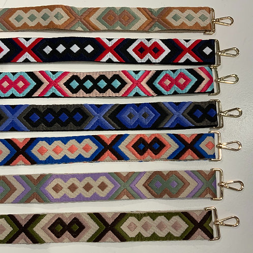 messenger bag strap Aztec geometric pattern adjustable