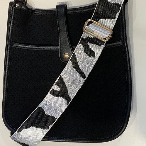Black Neoprene w/Silver Camo Strap Set