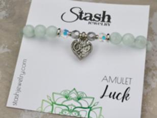 Amulet Bracelet - Luck - Green Moonstone