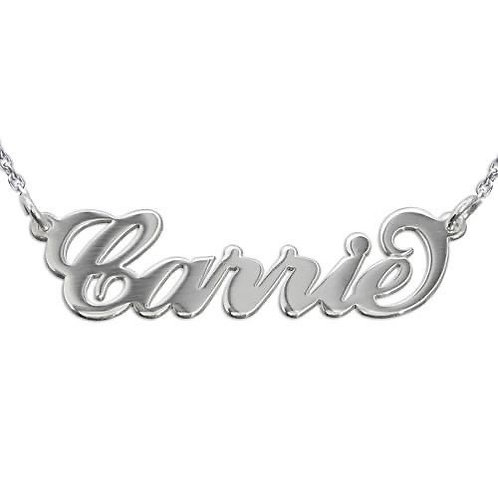 Script Name Necklace - Sterling Silver