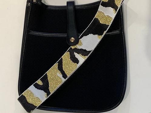 Black Neoprene w/Gold Camo Strap Set