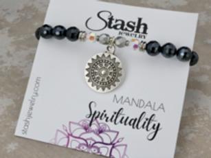 Mandala Bracelet - Spirituality - Mystic Black