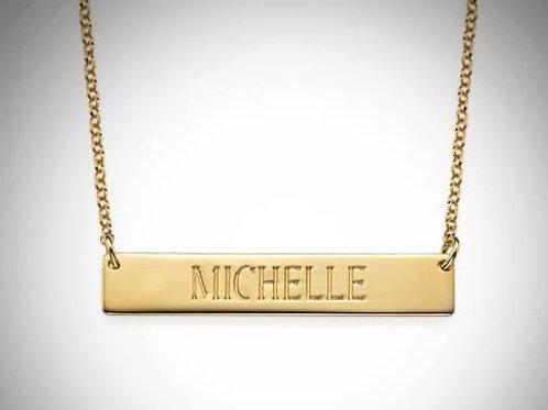 Horizontal Bar Necklace- Gold
