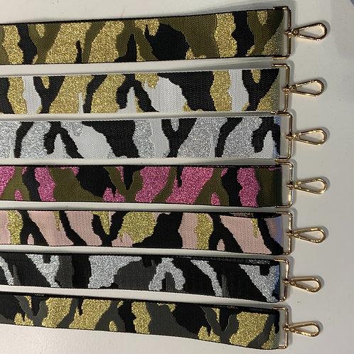"2"" Camo Bag Straps (Gold Hardware)"