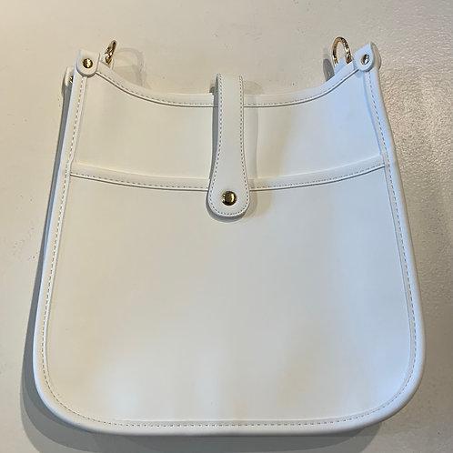 White Reg. Size Snap Closure Messenger - Bag Only