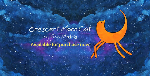 crescent moon cat available for purchase