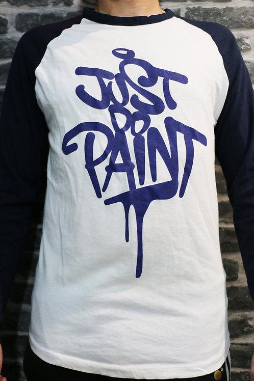 T-shirt manches longues Homme  . bleu/blanc