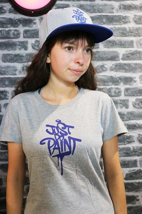 T-shirt Femme Gris clair/Bleu