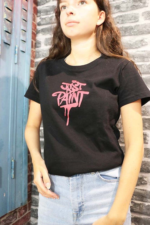 T-shirt Femme Noir/Rouge