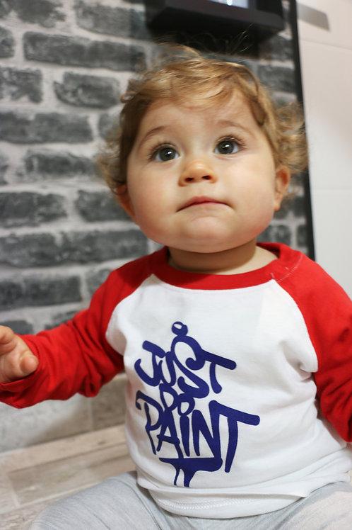 T-shirt manches longues bébé Blanc/Rouge