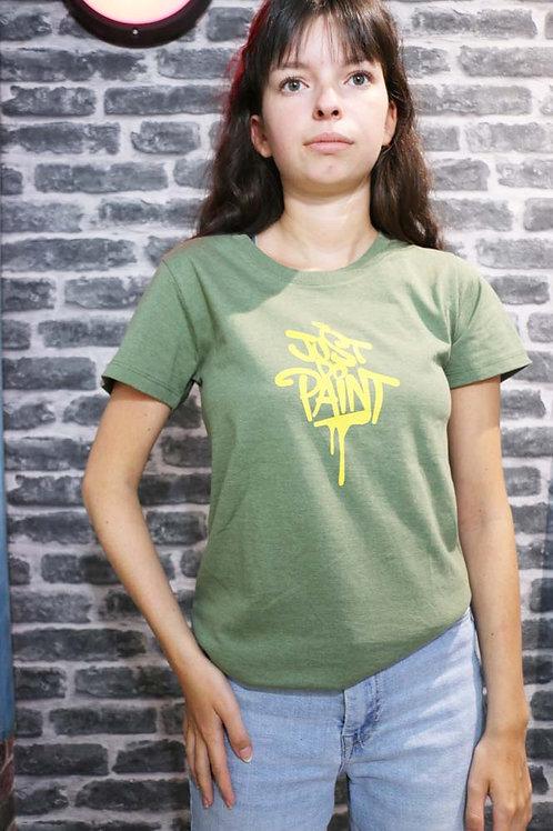 T-shirt Femme Vert clair/Jaune