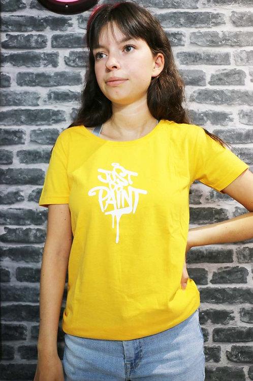 T-shirt Femme orange/Blanc