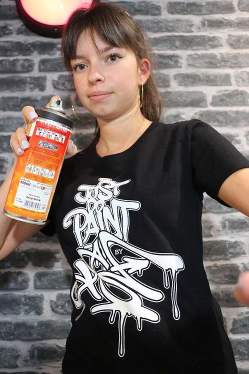 "T-shirt Femme Noir Série limitée ""JustDoPaint by TSFcrew"""