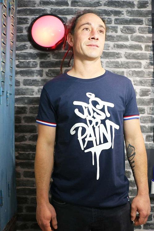 T-shirt Homme .Rainbow Bleu/Blanc